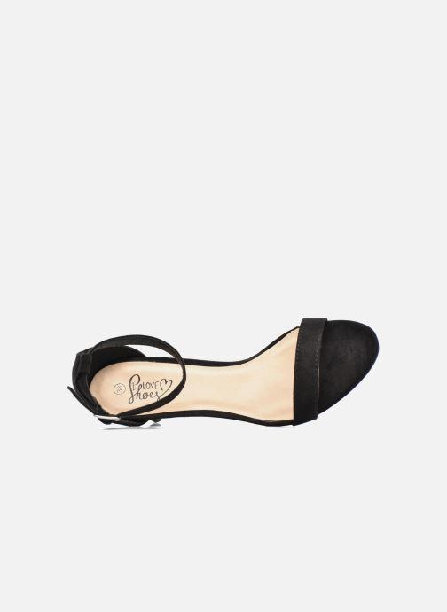 Sandalias I Love Shoes MCGARCIA Negro vista lateral izquierda