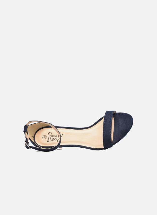 Sandalias I Love Shoes MCGARCIA Azul vista lateral izquierda