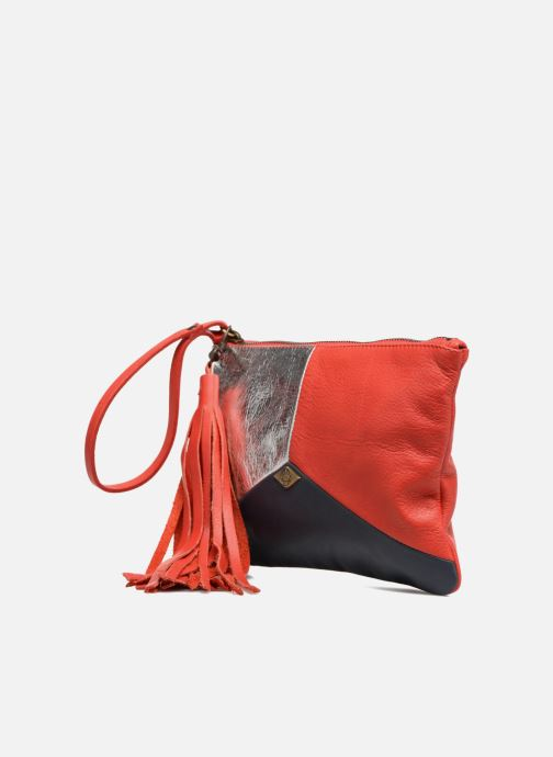 Sacs pochettes Mohekann Anatolie Rouge vue portées chaussures