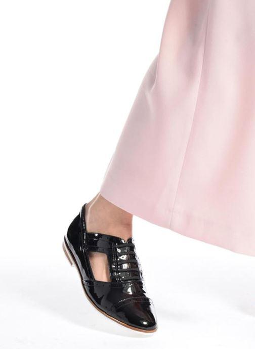 Chaussures à lacets I Love Shoes BLEST Bleu vue bas / vue portée sac