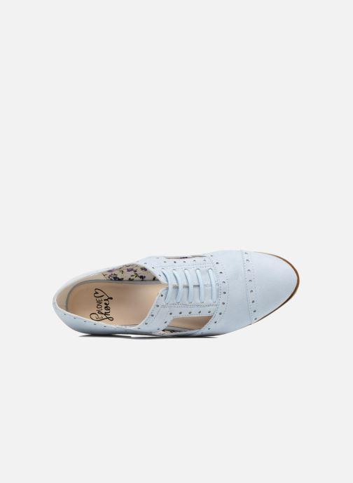 Scarpe con lacci I Love Shoes BLEST Azzurro immagine sinistra