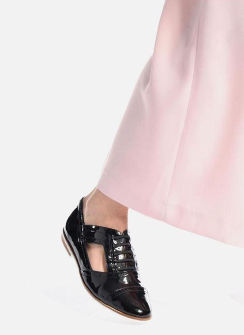 Chaussures à lacets I Love Shoes BLEST Noir vue bas / vue portée sac