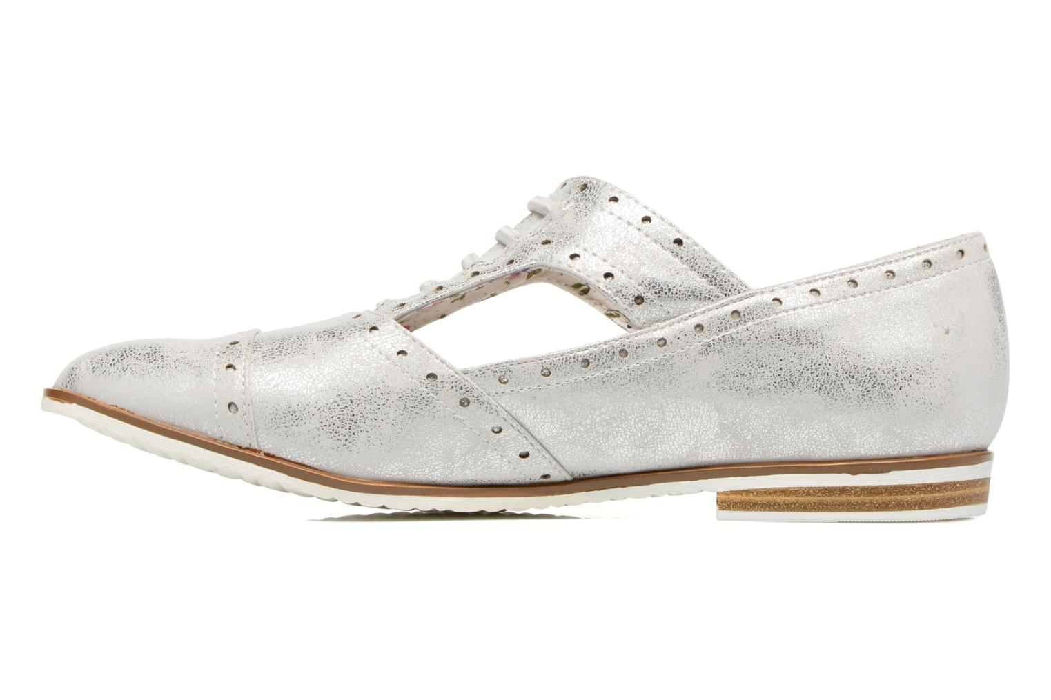 Lace-up shoes I Love Shoes BLEST Silver front view