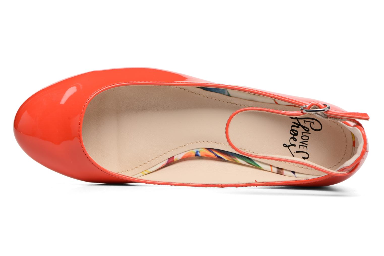 Ballerines I Love Shoes BLIJ Rouge vue gauche