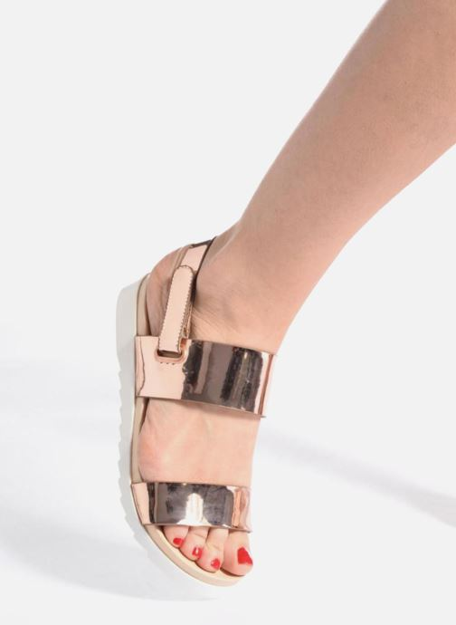 Sandales et nu-pieds I Love Shoes BLEEVA Argent vue bas / vue portée sac