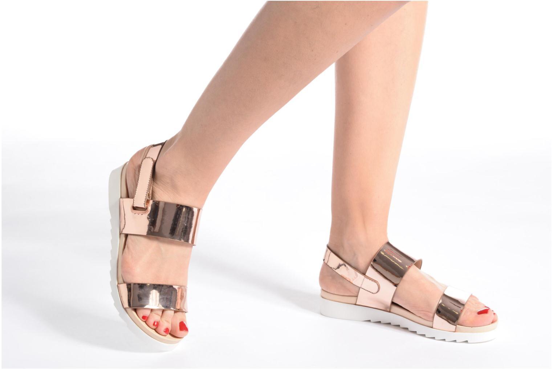 Sandalias I Love Shoes BLEEVA Plateado vista de abajo
