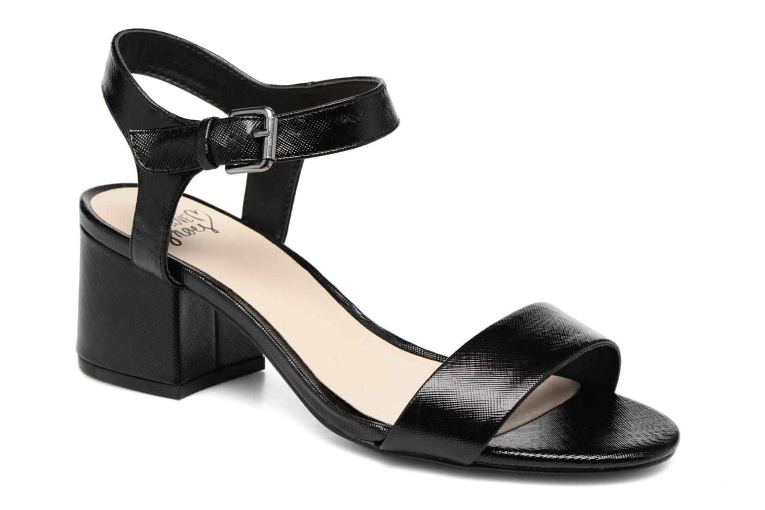 Sandals I Love Shoes BLEUR Black detailed view/ Pair view
