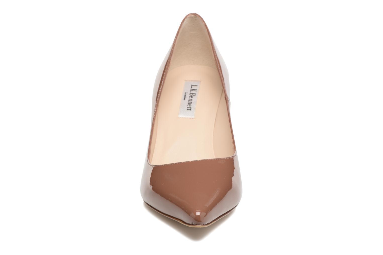 High heels L.K. Bennett Bianca Brown front view