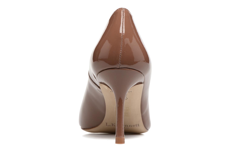 High heels L.K. Bennett Bianca Brown back view