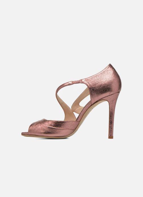 Sandales et nu-pieds L.K. Bennett Valentina Or et bronze vue face