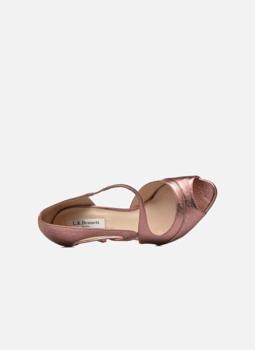 Sandali e scarpe aperte L.K. Bennett Valentina Oro e bronzo immagine sinistra