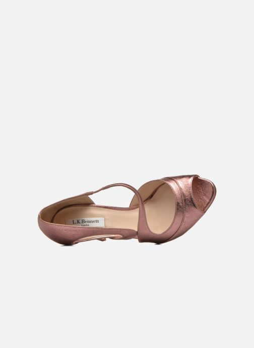 Sandales et nu-pieds L.K. Bennett Valentina Or et bronze vue gauche