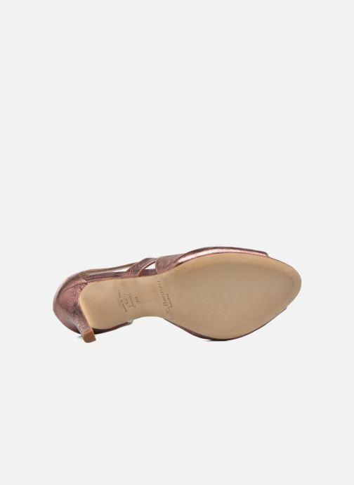 Sandales et nu-pieds L.K. Bennett Valentina Or et bronze vue haut