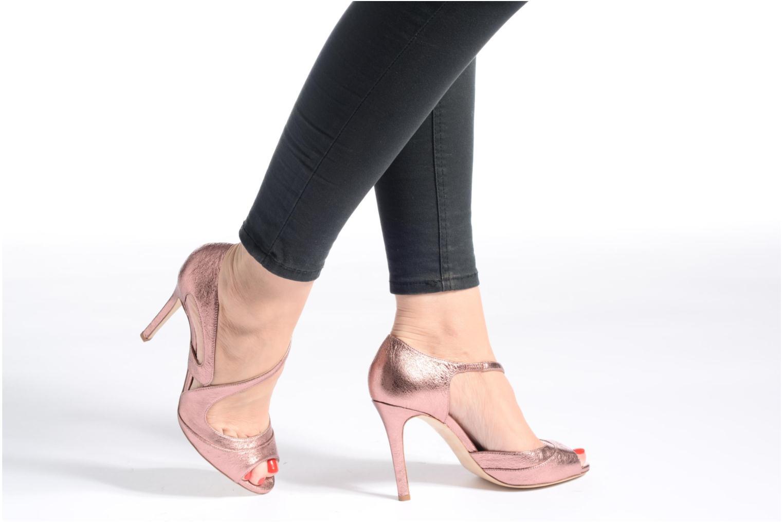 Sandales et nu-pieds L.K. Bennett Valentina Or et bronze vue bas / vue portée sac