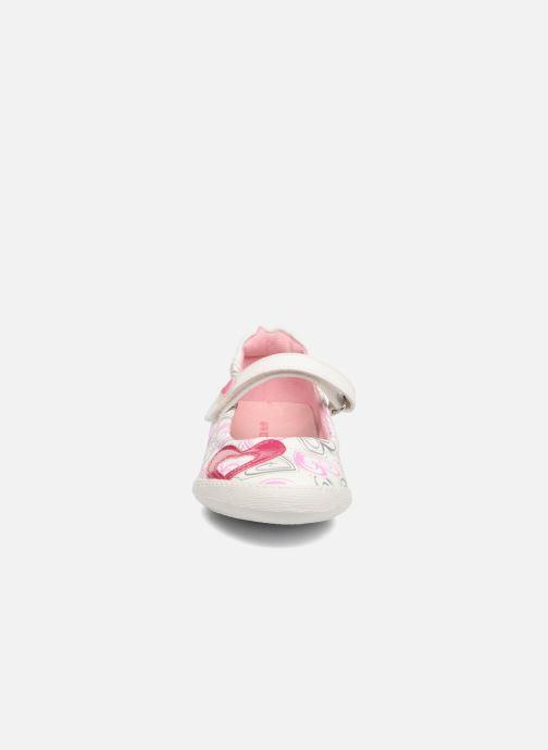 Ballerines Agatha Ruiz de la Prada Clever 2 Blanc vue portées chaussures