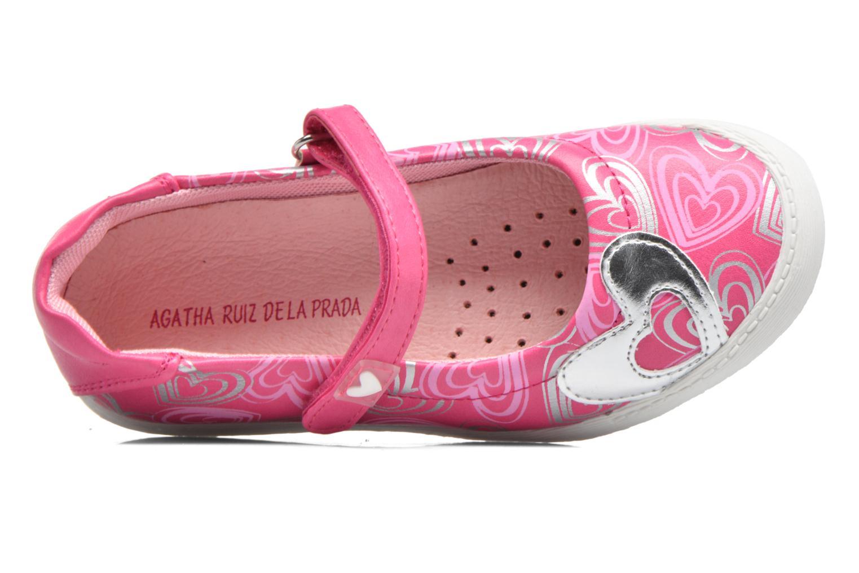 Ballerines Agatha Ruiz de la Prada Clever 2 Rose vue gauche