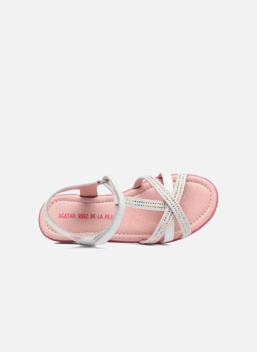 Sandales et nu-pieds Agatha Ruiz de la Prada Diva 2 Blanc vue gauche