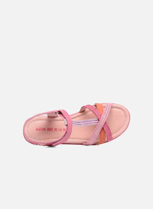 Sandales et nu-pieds Agatha Ruiz de la Prada Diva 2 Rose vue gauche