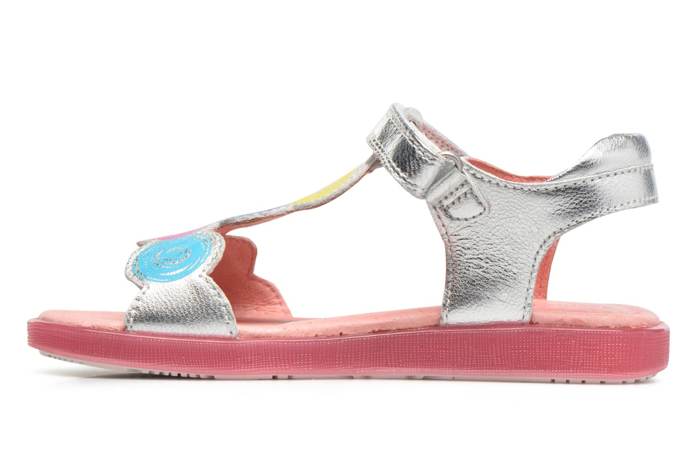 Sandals Agatha Ruiz de la Prada Swing 2 Silver front view