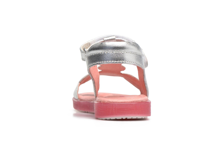 Sandals Agatha Ruiz de la Prada Swing 2 Silver view from the right