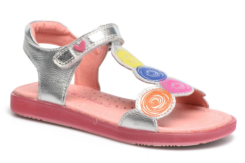 Sandals Agatha Ruiz de la Prada Swing 2 Silver detailed view/ Pair view