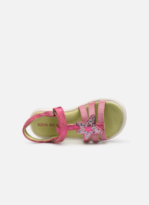 Sandals Agatha Ruiz de la Prada Beauty Pink view from the left