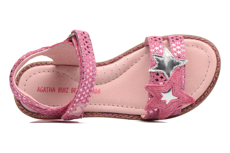 Sandalen Agatha Ruiz de la Prada Miss Ponza 2 rosa ansicht von links