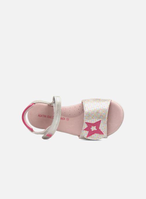 Sandales et nu-pieds Agatha Ruiz de la Prada Clever 3 Argent vue gauche