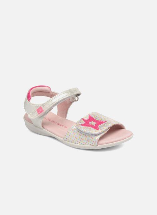 Sandals Agatha Ruiz de la Prada Clever 3 Silver detailed view/ Pair view