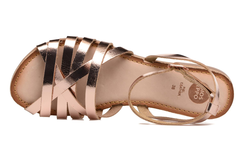 Sandales et nu-pieds Gioseppo Lena Or et bronze vue gauche