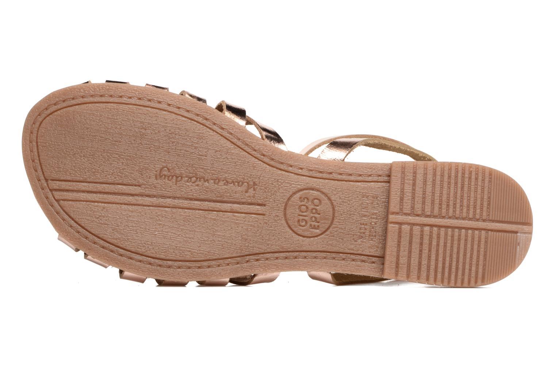 Sandales et nu-pieds Gioseppo Lena Or et bronze vue haut