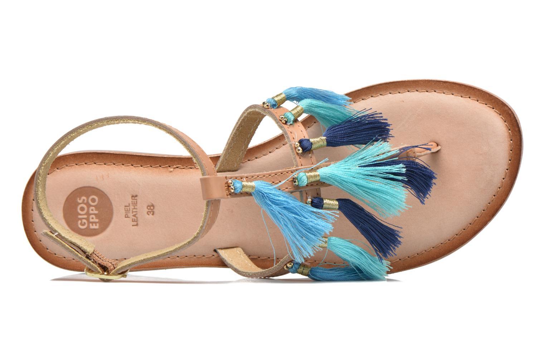 Sandales et nu-pieds Gioseppo Amenti Bleu vue gauche