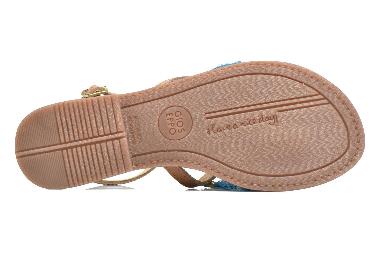 Sandales et nu-pieds Gioseppo Amenti Bleu vue haut