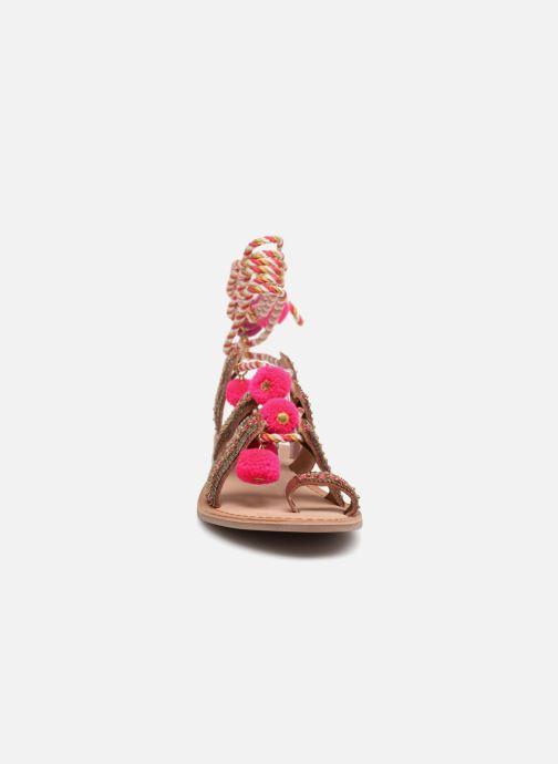 Sandalen Gioseppo Yurak rosa schuhe getragen