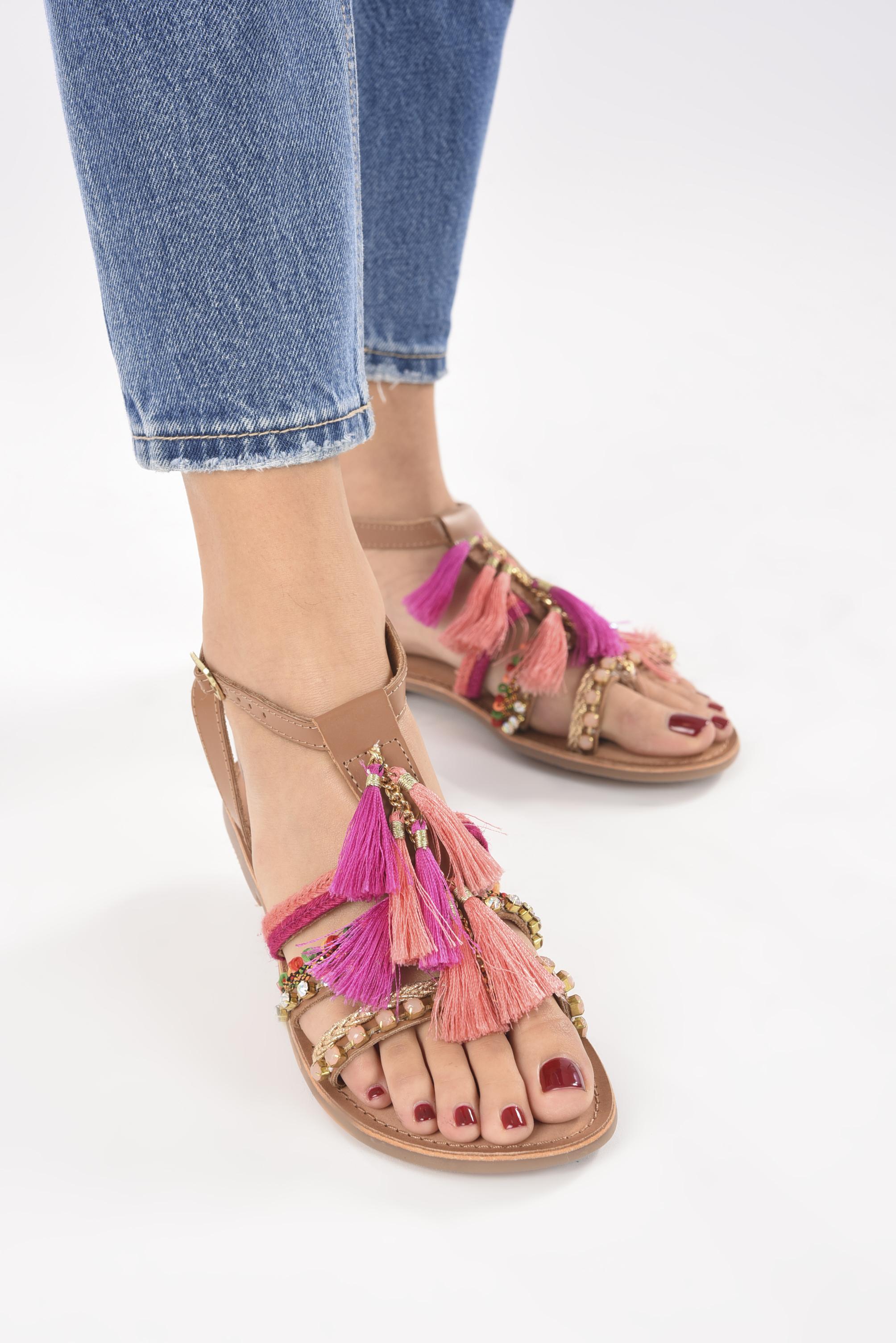 Sandales et nu-pieds Gioseppo Nambi Rose vue bas / vue portée sac