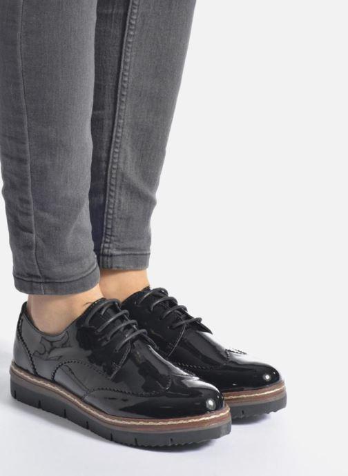 Chaussures à lacets I Love Shoes thalweg Noir vue bas / vue portée sac