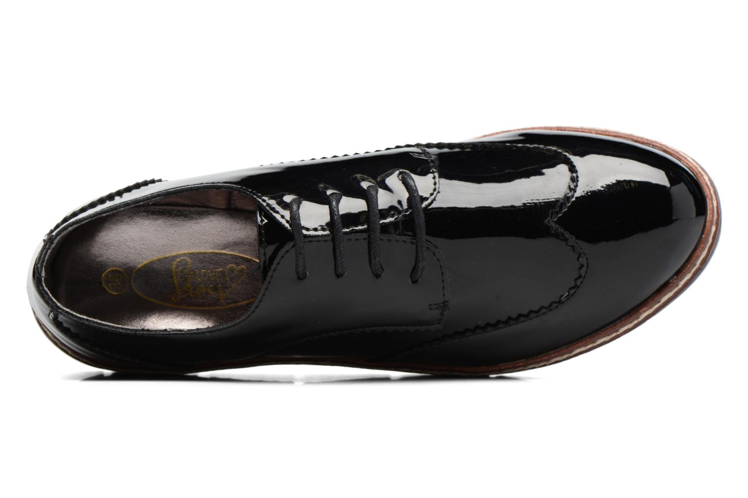 Zapatos con cordones I Love Shoes thalweg Negro vista lateral izquierda