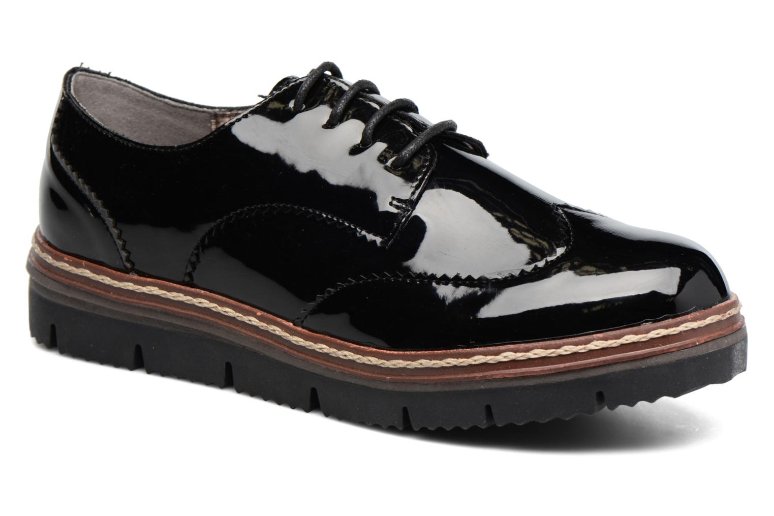 Lace-up shoes I Love Shoes thalweg Black detailed view/ Pair view