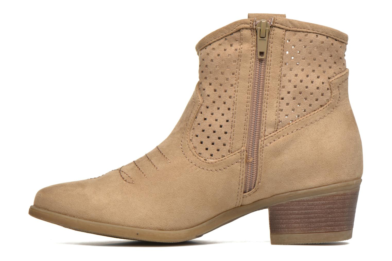 Ankle boots I Love Shoes thunbin Beige front view