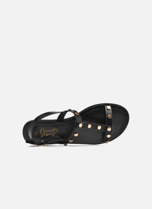 Sandales et nu-pieds I Love Shoes THEA Noir vue gauche