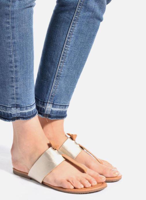 Sandales et nu-pieds I Love Shoes THIVUS Or et bronze vue bas / vue portée sac