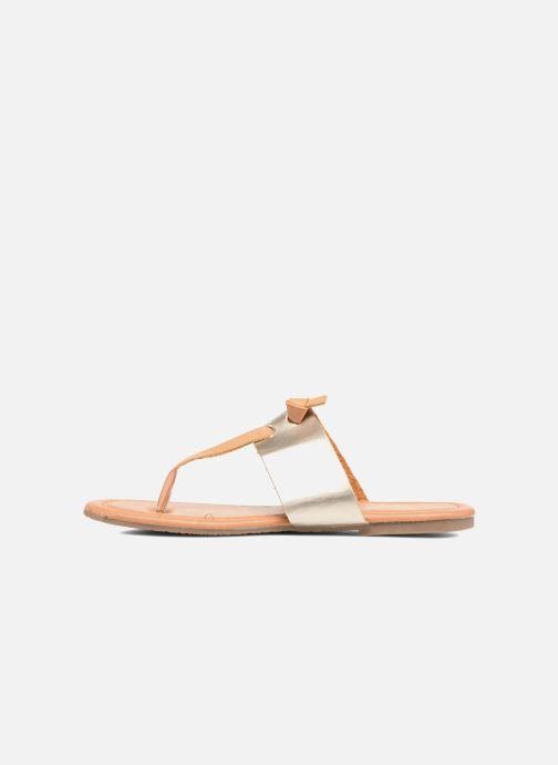 Sandales et nu-pieds I Love Shoes THIVUS Or et bronze vue face
