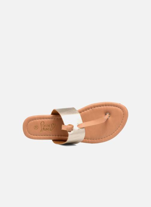 Sandales et nu-pieds I Love Shoes THIVUS Or et bronze vue gauche