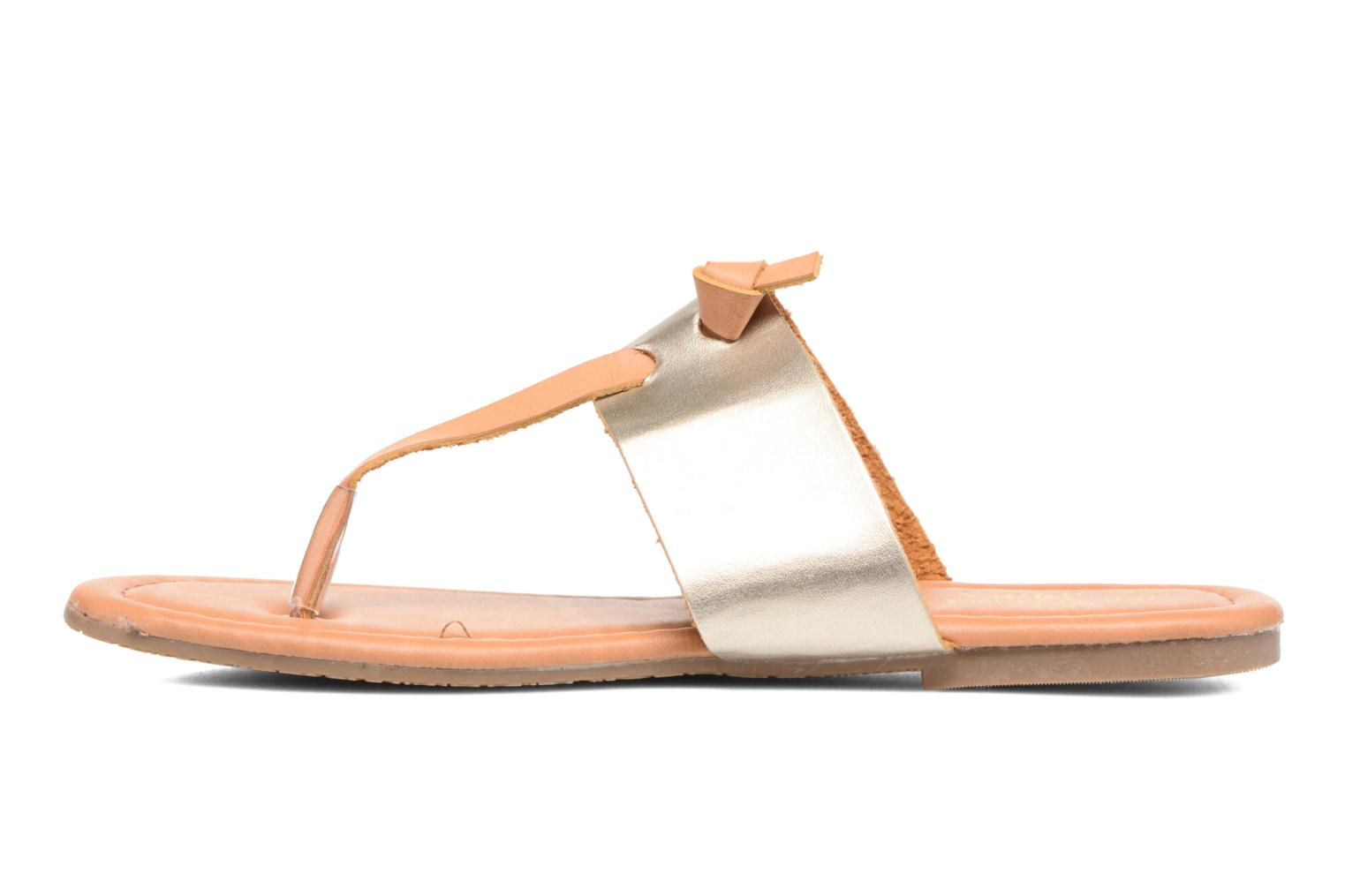 Sandals I Love Shoes THIVUS Bronze and Gold front view