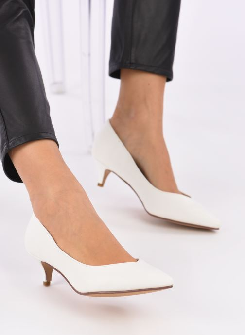 High heels I Love Shoes THORA White view from underneath / model view