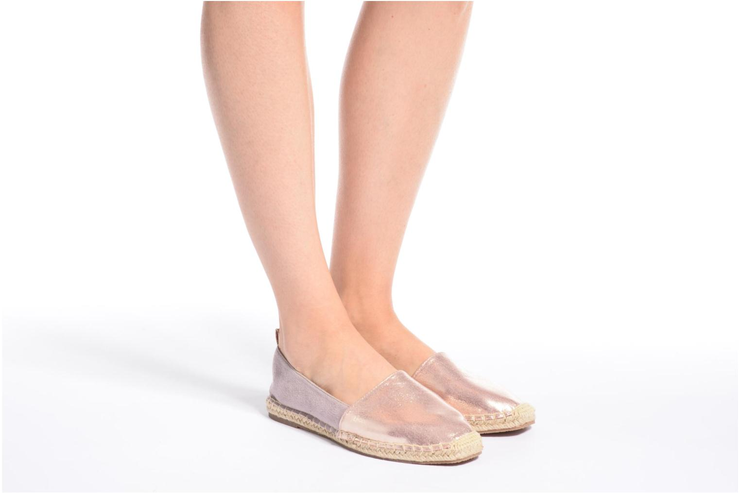 Espadrilles I Love Shoes THETE Silver view from underneath / model view