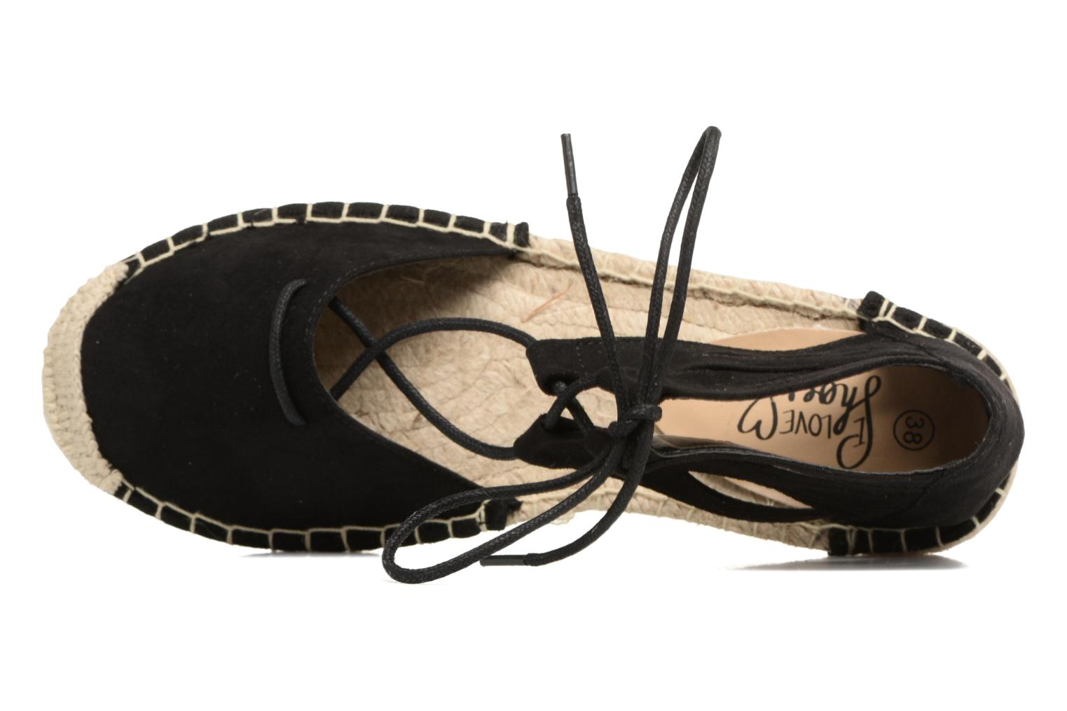 Espadrilles I Love Shoes THYADE Black view from the left