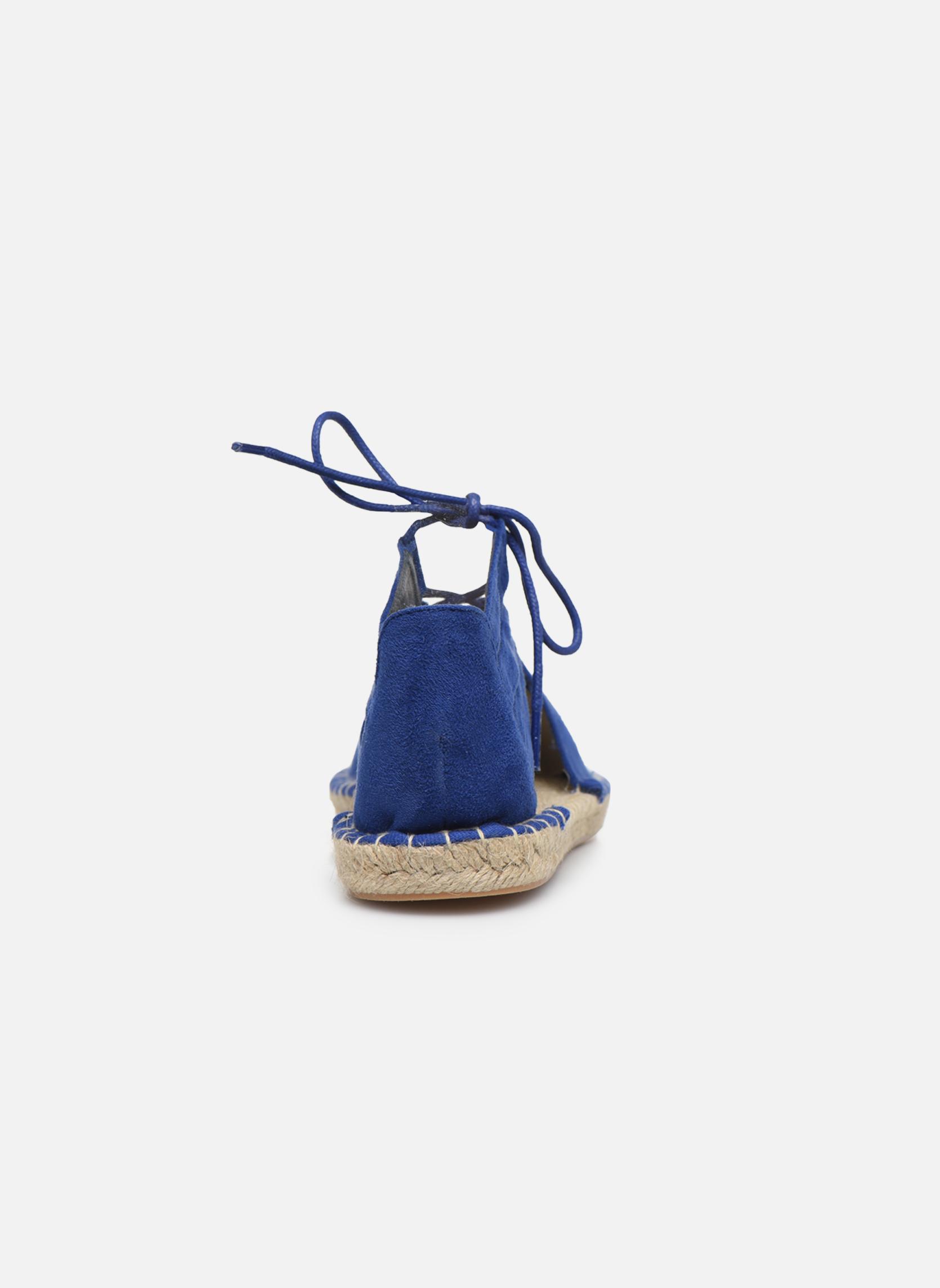 Alpargatas I Love Shoes THYADE Azul vista lateral derecha