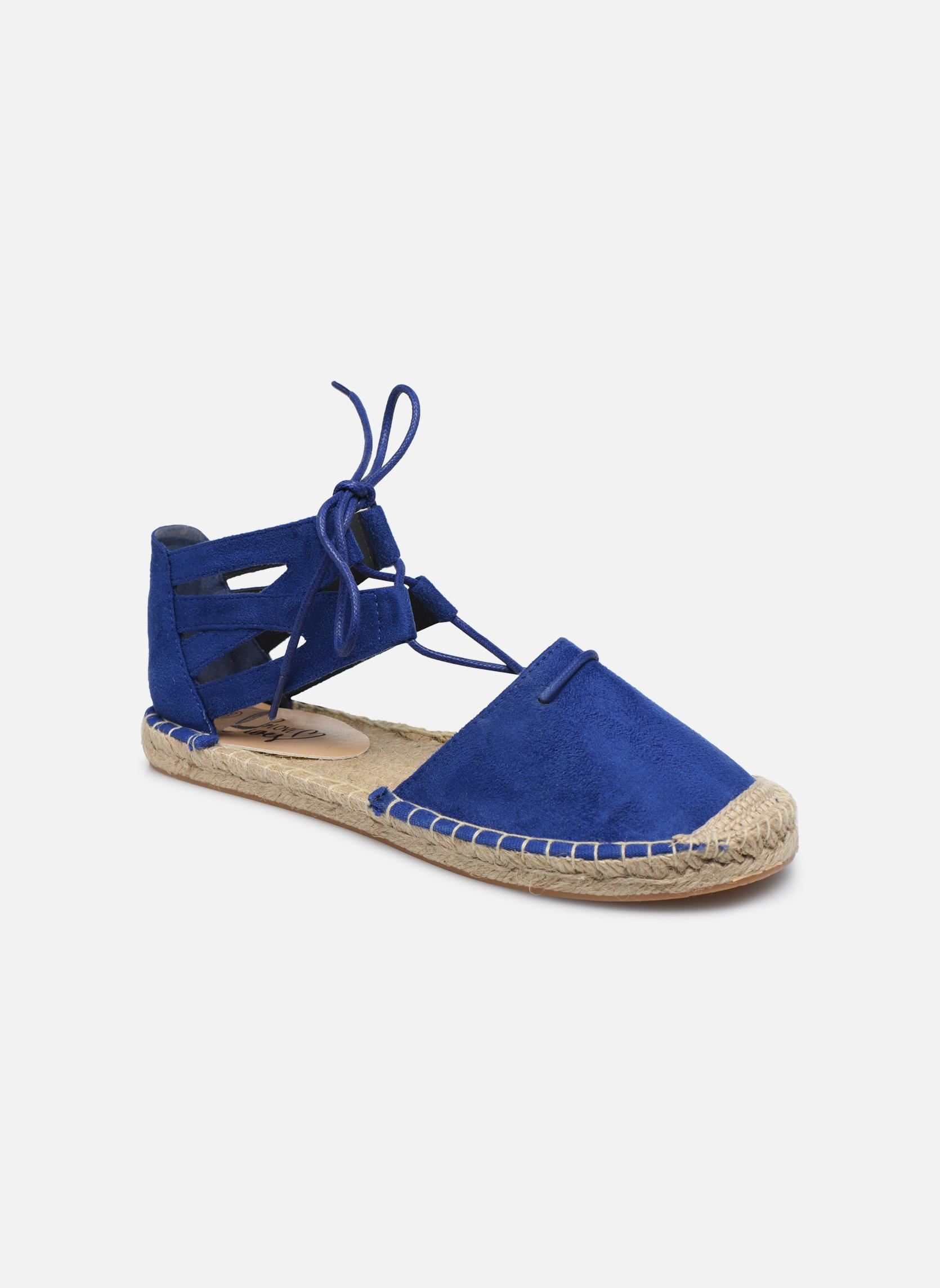 Alpargatas I Love Shoes THYADE Azul vista de detalle / par