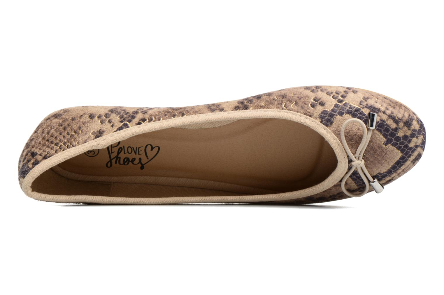 Ballet pumps I Love Shoes THENSELY Beige view from the left